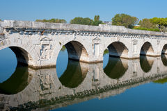 Bridge of Tiberius in Rimini Royalty Free Stock Photography