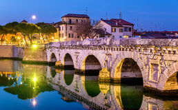 The Bridge of Tiberius in Rimini Royalty Free Stock Photography