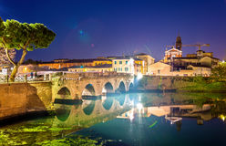 The Bridge of Tiberius in Rimini Royalty Free Stock Images