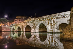 Bridge of Tiberius in Rimini, Italy Royalty Free Stock Images