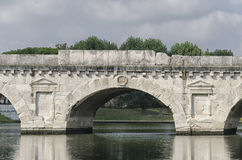 The Bridge of Tiberius in Rimini Stock Photos