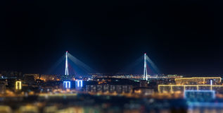 Bridge. Tilt-shift effect. Stock Photography