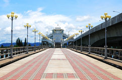 Bridge Tinsulanond. Concrete is the longest Songkhla in Thailand Stock Photos