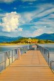 Bridge to Agios Achillios Island Stock Photo