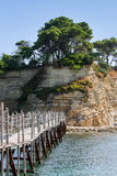 Bridge to Agios Sostis island in Greece Royalty Free Stock Photo