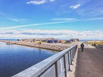 Bridge to Amager Beach Royalty Free Stock Photography