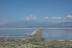 Bridge to Antelope Island. Salt Lake City, Utah Stock Images