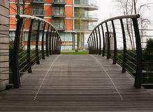 Bridge To Apartments Royalty Free Stock Images