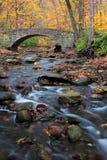 Bridge to autumn Stock Photo