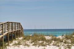 Bridge to the Beach Stock Images
