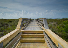 Bridge to the Beach stock photography