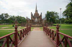 Bridge to Buddha Pagoda, Thailand, outdoor Stock Image
