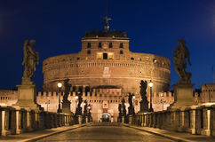 The bridge to the Castel Sant'Angelo, Rome, Italy Stock Photo