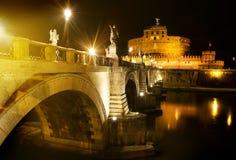 Bridge to castle Sant Angelo Royalty Free Stock Photos