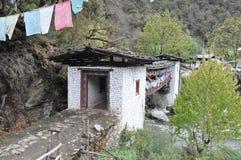 Bridge to Chagri Meditation Center above Thimphu Royalty Free Stock Photography