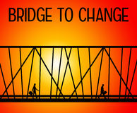 Bridge to change. And good situations Royalty Free Stock Image