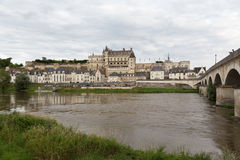 Bridge to the Chateau d'Amboise Royalty Free Stock Photo