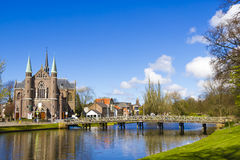 Bridge to church, Alkmaar town, Holland, Netherlands Royalty Free Stock Photos