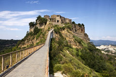 Bridge To Civita Stock Photos