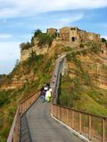 Bridge to Civita di Bagnoregio Stock Images