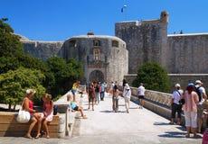 Bridge to Dubrovnik old city Stock Photos