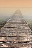 Bridge to eternity - misty morning Stock Photography
