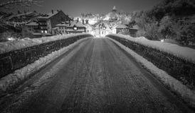 The bridge to Fribourg, Switzerland Stock Image