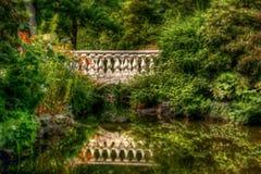 Bridge to Garden Delights stock image