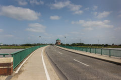 Bridge to the German city of Leer. Bridge to the city of Leer in Germany Stock Photos