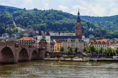 The bridge to Heidelberg, Germany. Royalty Free Stock Images