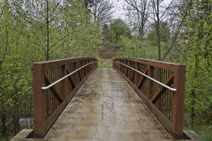 Bridge to Hiking Trail 2 Stock Photos