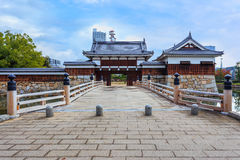 The bridge to Hiroshima castle Stock Images