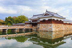 The bridge to Hiroshima castle Royalty Free Stock Images