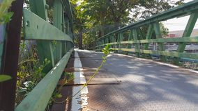 On the bridge to home royalty free stock photography