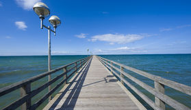 Bridge to horizon Stock Images