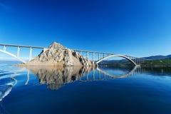 Bridge to the island of KRK. KRK is a Croatian island in the northern Adriatic Sea. Royalty Free Stock Images