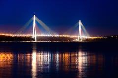 Bridge to island Russkij Stock Images
