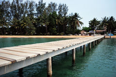 Bridge to Koh Mak port Stock Photos