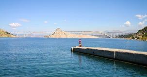 Bridge to Krk Island, Croatia Stock Photography