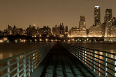 Bridge to Manhattan. View of Manhattan West side from New Jersey side of Hudson Stock Images