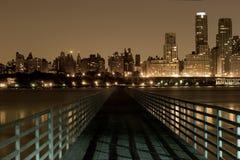 Bridge to Manhattan stock images