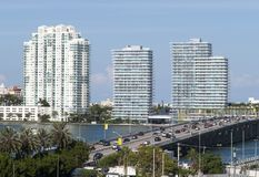Bridge To Miami Beach Royalty Free Stock Photo
