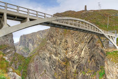 Bridge to the Mizen Head Lighthouse Royalty Free Stock Photos