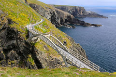 Bridge to Mizen Head. Lighthouse in southern Ireland Royalty Free Stock Images