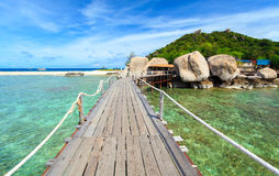 Bridge to Nangyuan island, Suratthani, Thailand Stock Image