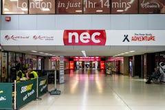 Bridge to the NEC stock photo