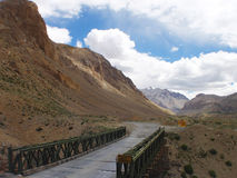 Bridge To Nowhere. This is a bridge constructed by the engineers of the Indian Army, found on the Leh - Manali road in India Stock Image