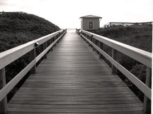 Bridge to nowhere. Photo taken at the Sylt Island in Germany royalty free stock photo
