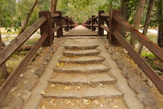 A Bridge to Nowhere. This photo just screams the journey into fall Royalty Free Stock Photography