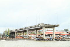 Bridge to nowhere in Manado. Unfinished bridge to nowhere (Manado, North Sulawesi, Indonesia stock photos
